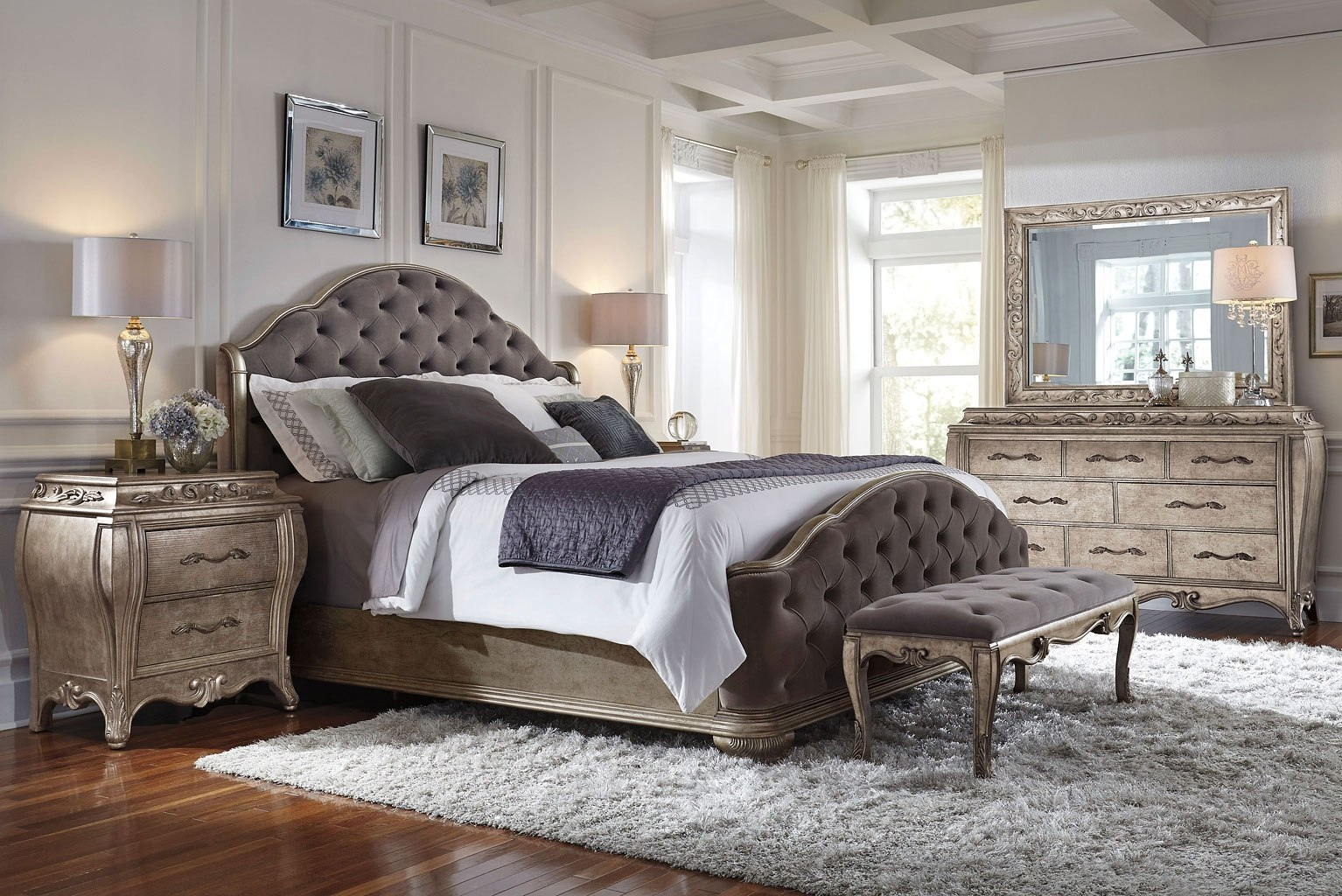 Rhianna upholstered bedroom set by pulaski furniture furniturepick