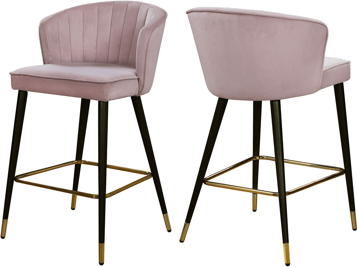 cassie bar counter height stool pink set of 2