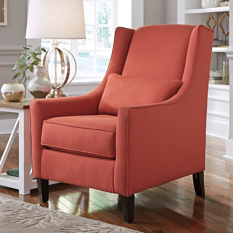 sansimeon cinnamon accent chair  accent chairs  living