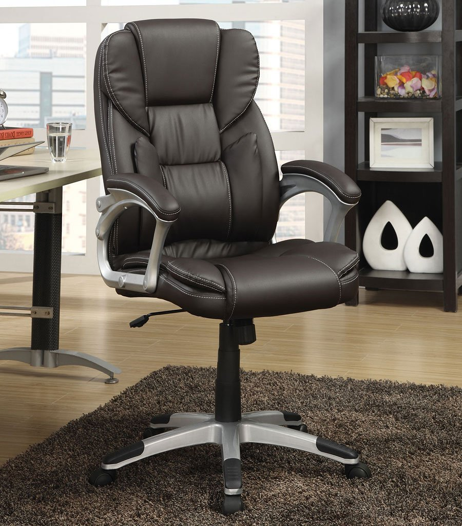 Brown Leatherette Office Chair By Coaster Furniture