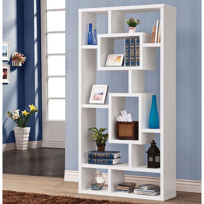 White Modern Bookshelf By Coaster Furniture