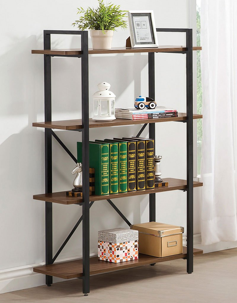industrial style bookcase bookcases home office furniture home office. Black Bedroom Furniture Sets. Home Design Ideas