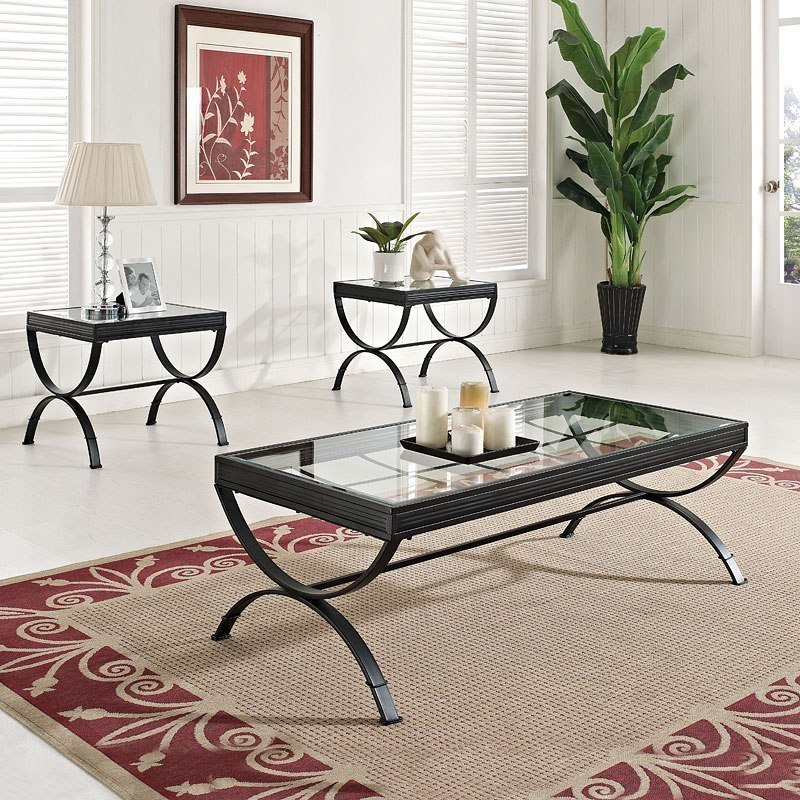 Quintin 3 Piece Occasional Table Set Black Occasional And Accent
