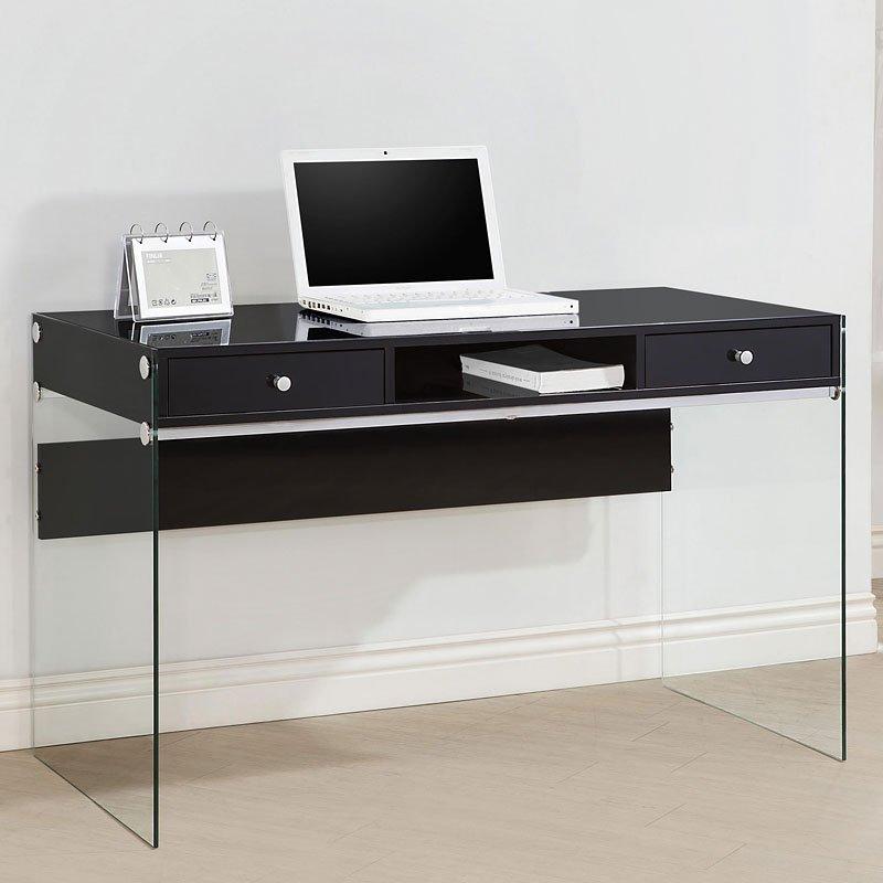 Contemporary Computer Desk Glossy Black