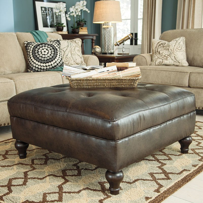 Alma Bay Oversized Accent Ottoman By Signature Design By