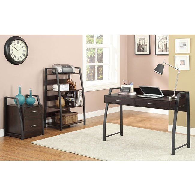 Wood Metal Home Office Set Coaster Furniture Furniturepick
