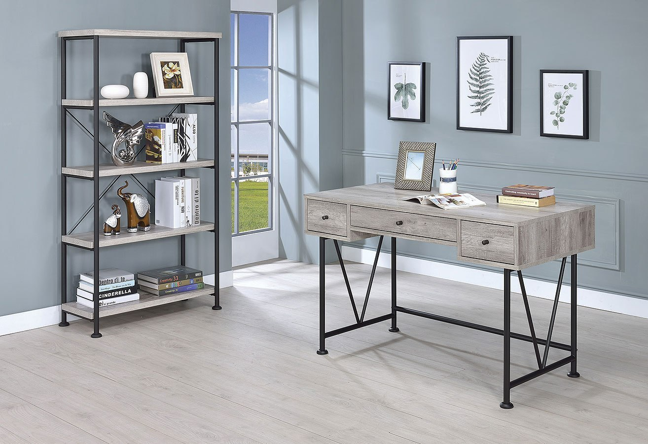 Analiese Small Home Office Set (Grey Driftwood) By Coaster