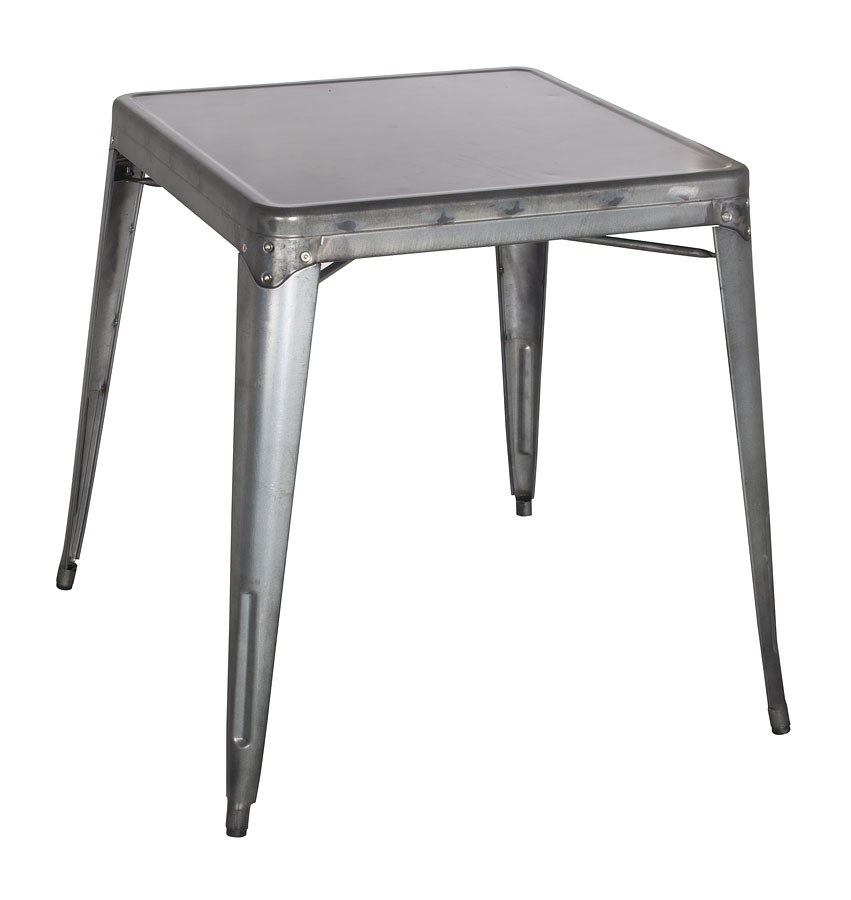 Alfresco Galvanized Steel Dining Table (Gun Metal) By Chintaly Imports