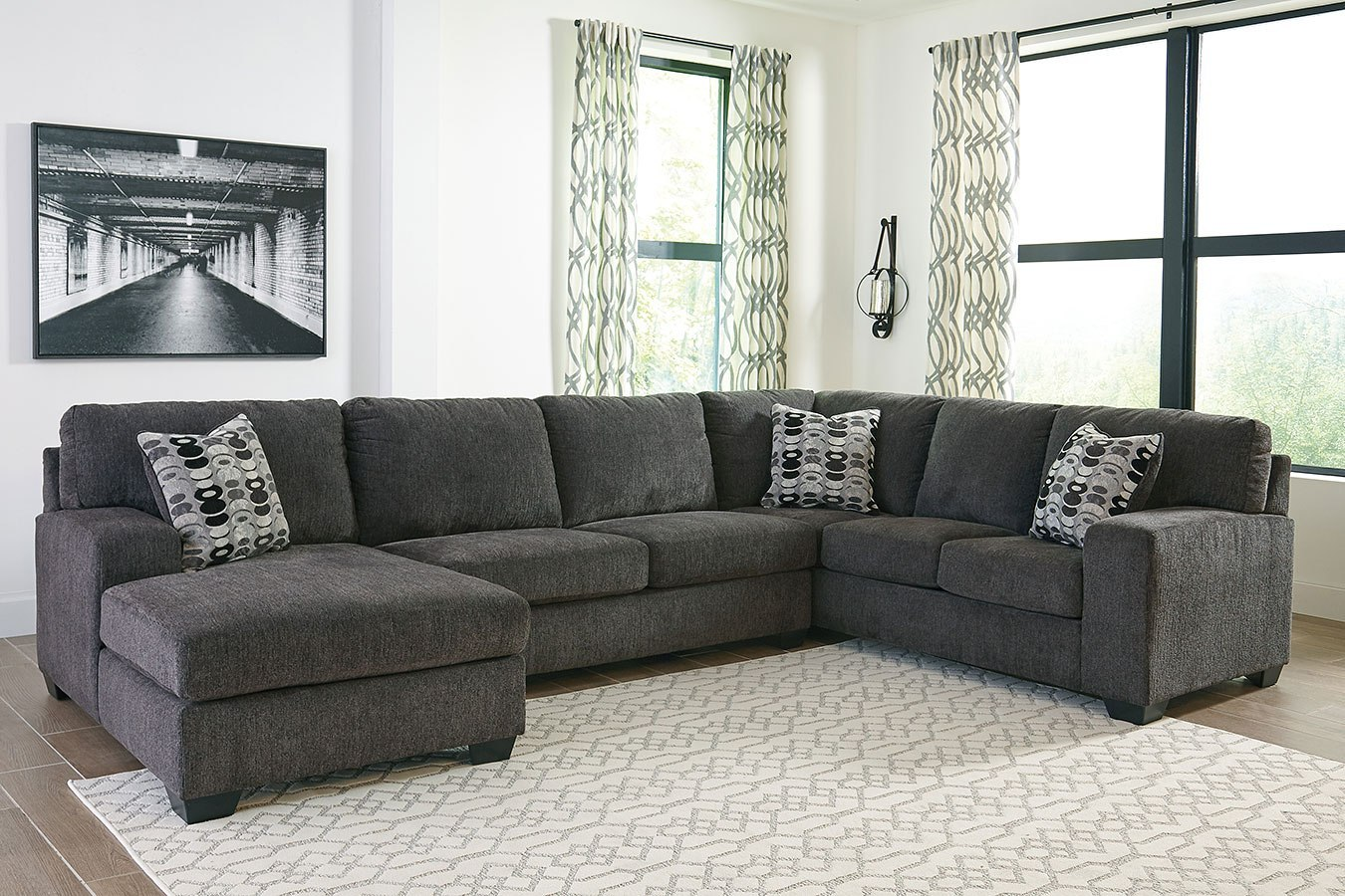Ballinasloe Smoke Left Chaise Sectional By Signature