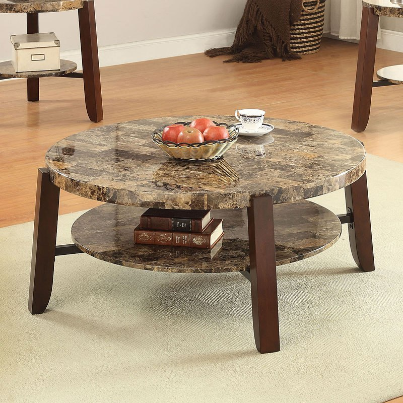 Adeline Faux Marble Coffee Table: Lilith Coffee Table (Dark Faux Marble) By Acme Furniture