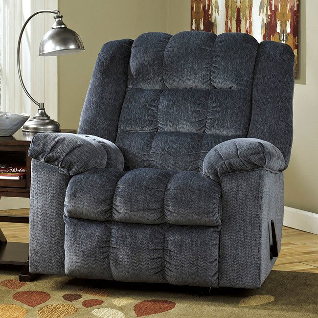 Ludden Blue Rocker Recliner W/ Power