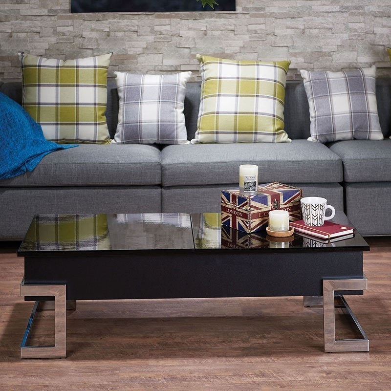 Calnan Lift Top Coffee Table Black By Acme Furniture