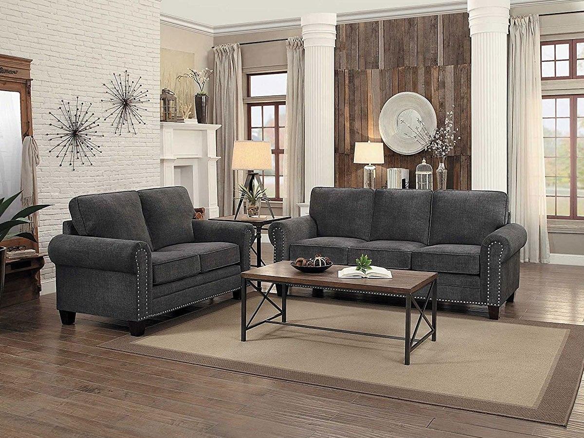 Cornelia Living Room Set (Dark Gray) By Homelegance