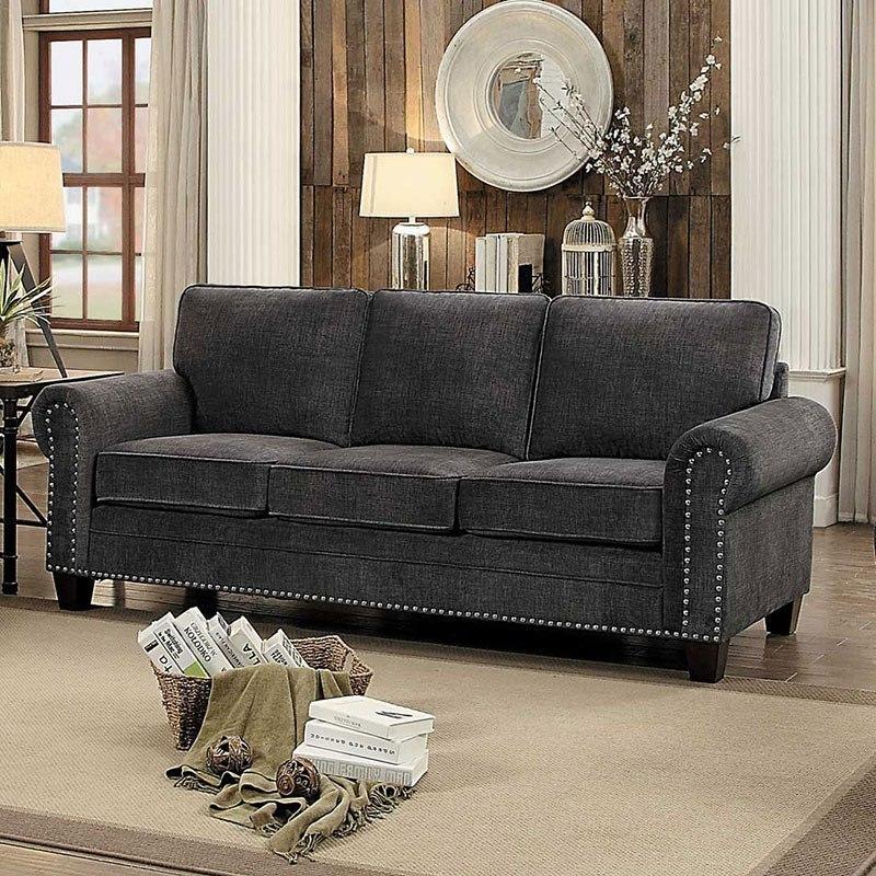 Cornelia Sofa Dark Gray By Homelegance Furniturepick