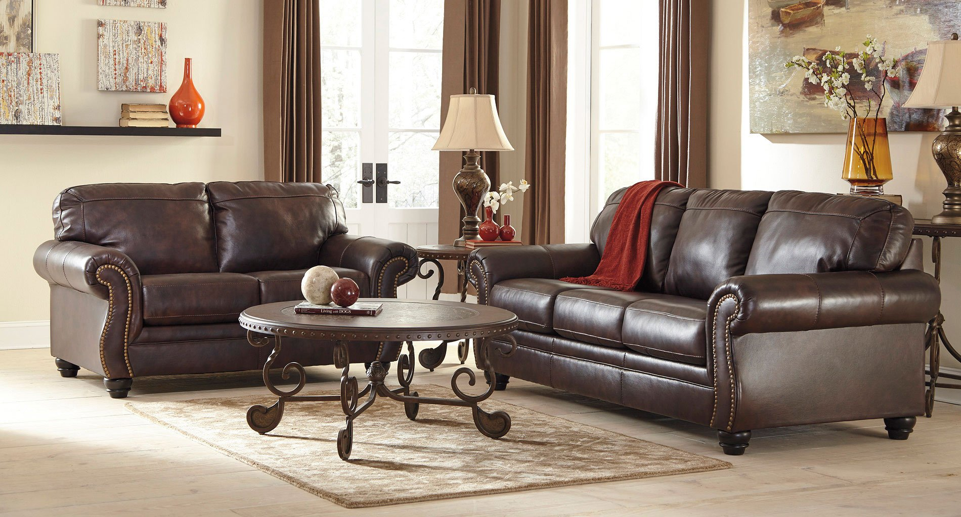 Bristan Walnut Living Room Set By Signature Design Ashley Furniturepick