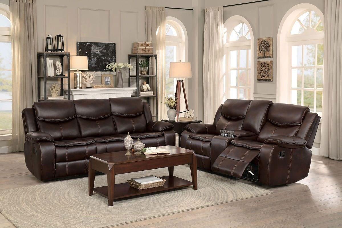 Bastrop Reclining Living Room Set Brown By Homelegance