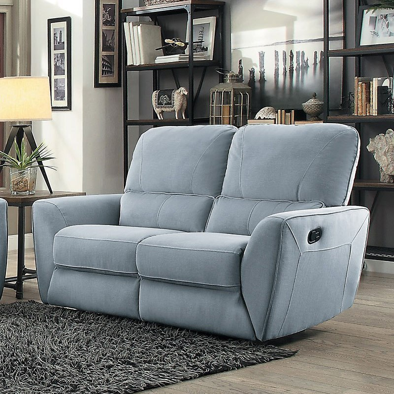 Dowling Reclining Loveseat Light Gray By Homelegance