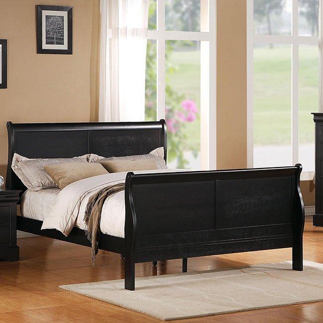 Lewiston Sleigh Bed (Black) by Standard Furniture | FurniturePick