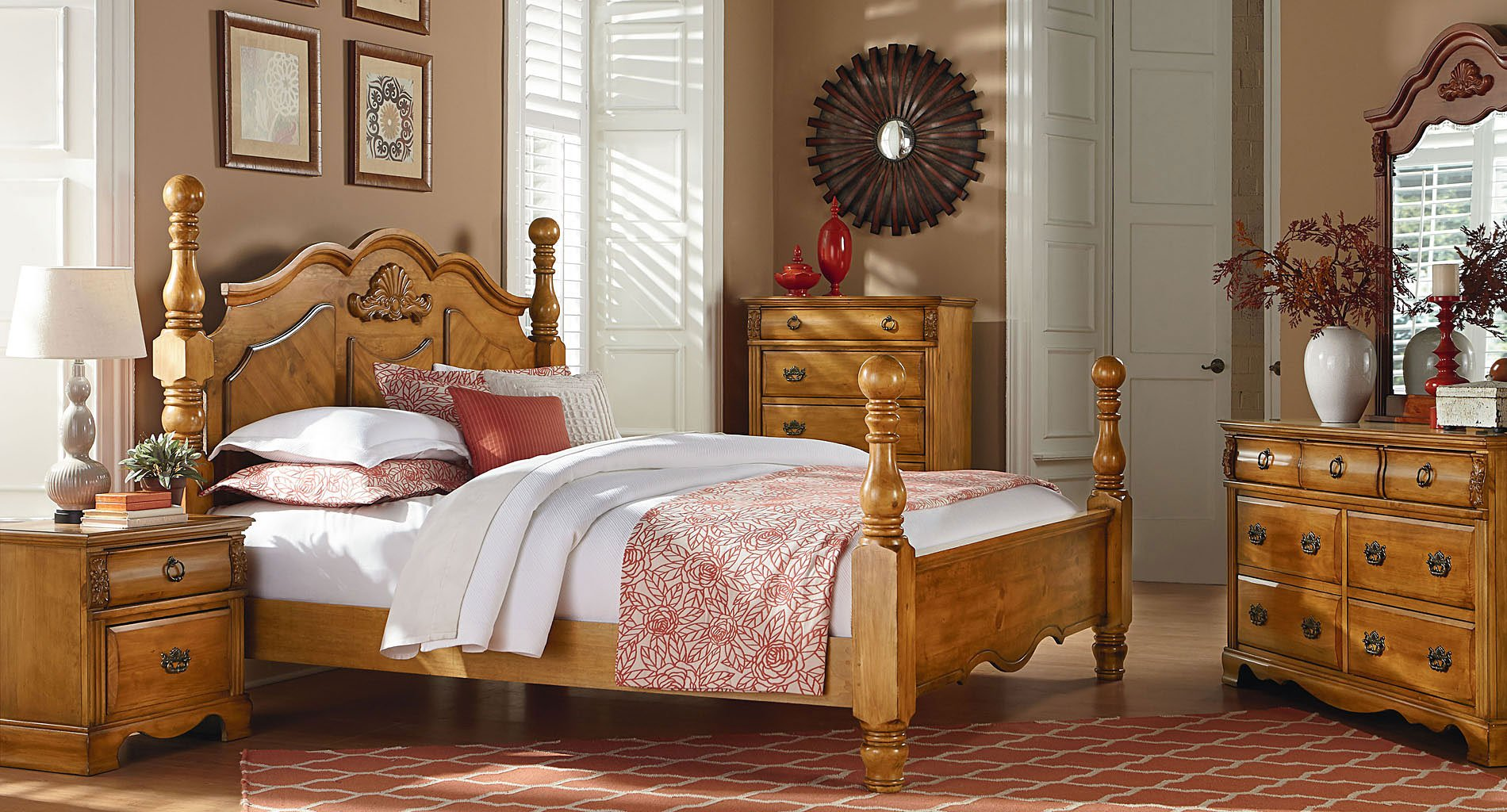 Luxury Poster Bedroom Sets Set
