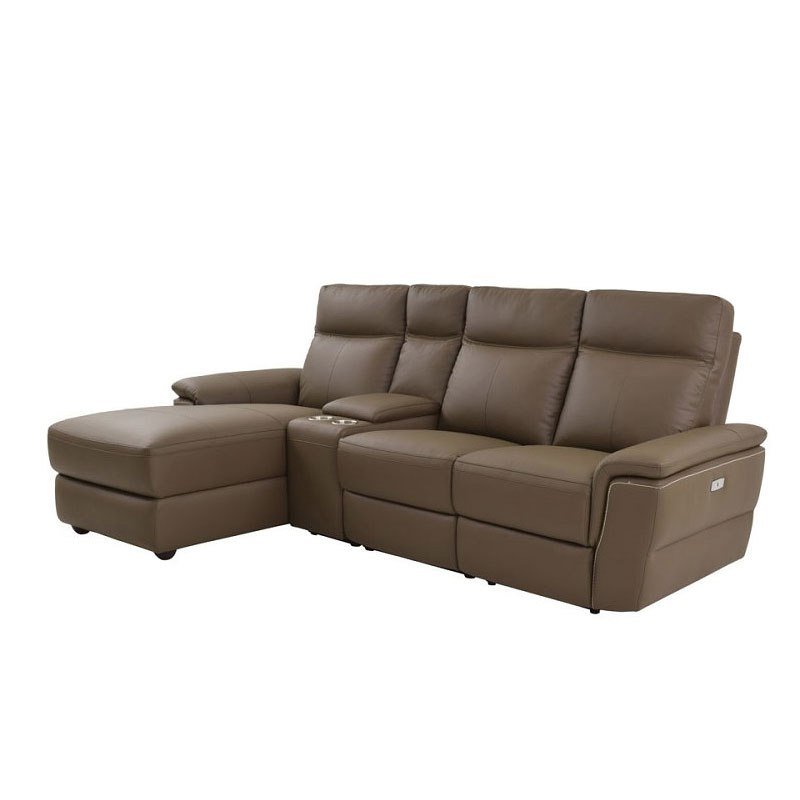 Olympia Left Chaise Power Reclining Sofa W Console Living Room