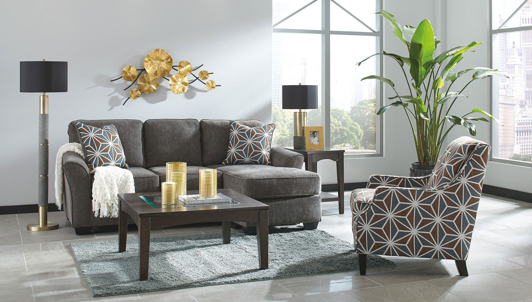 Brise Slate Living Room Set By Signature Design By Ashley