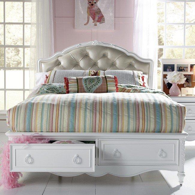 A1 Furniture Mattress Princess Night: SweetHeart Princess Bed W/ Storage Samuel Lawrence
