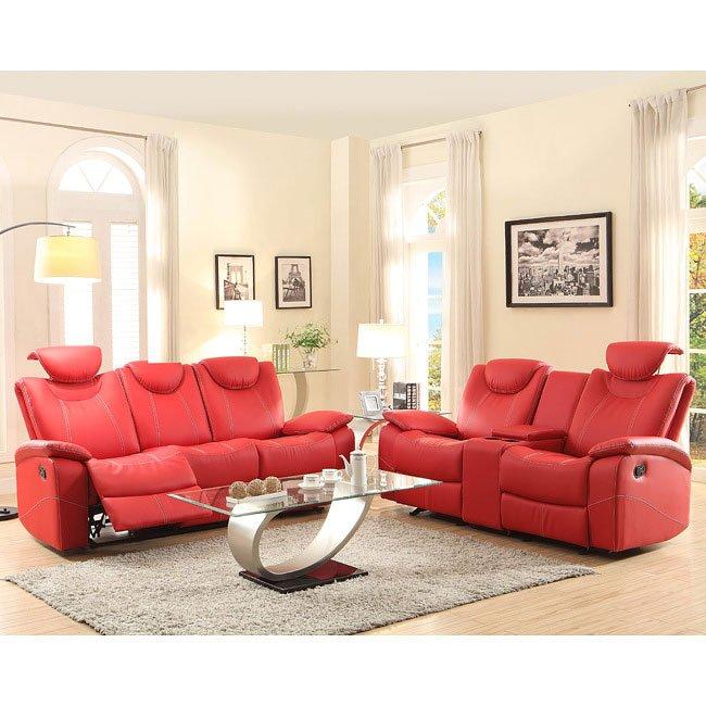 Talbot Reclining Living Room Set (Red) by Homelegance   FurniturePick
