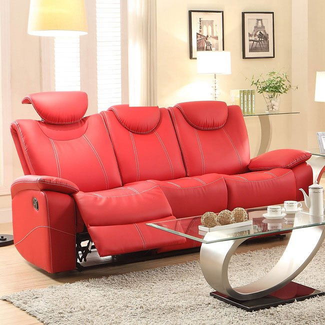 Talbot Double Reclining Sofa Red Reclining Sofas Living Room Furniture Living Room