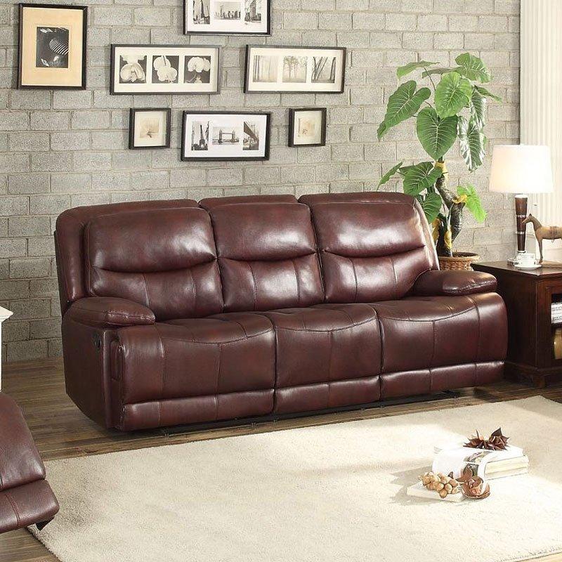 Risco Reclining Sofa (Burgundy)