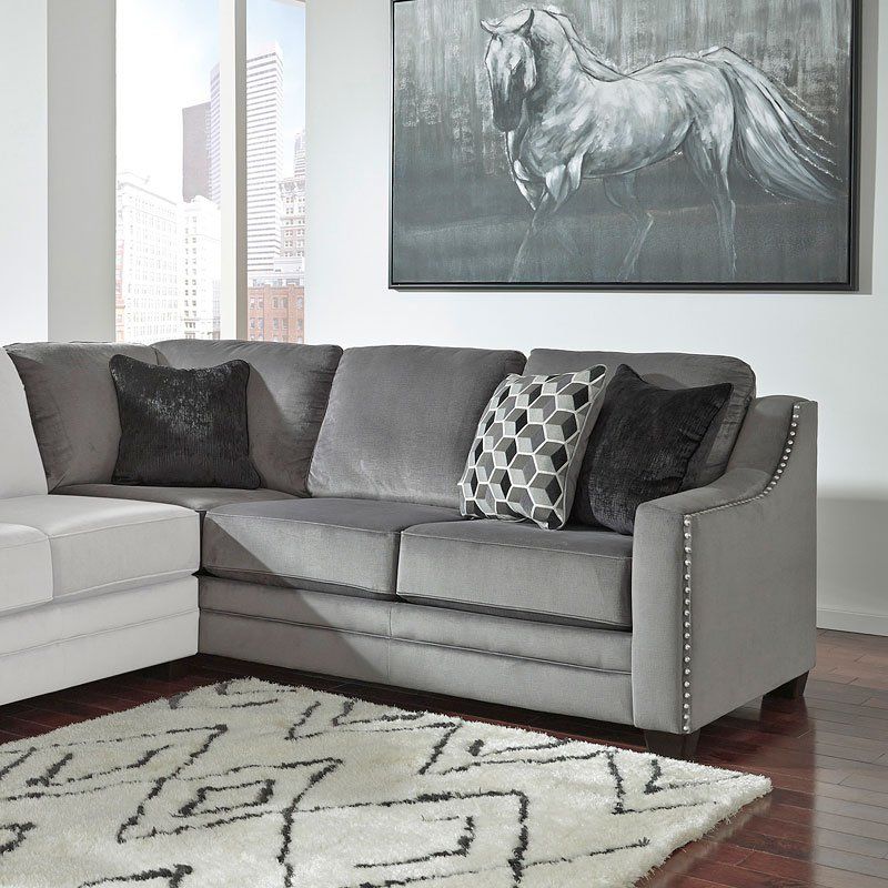 Admirable Bicknell Charcoal Left Sofa Sectional Pdpeps Interior Chair Design Pdpepsorg