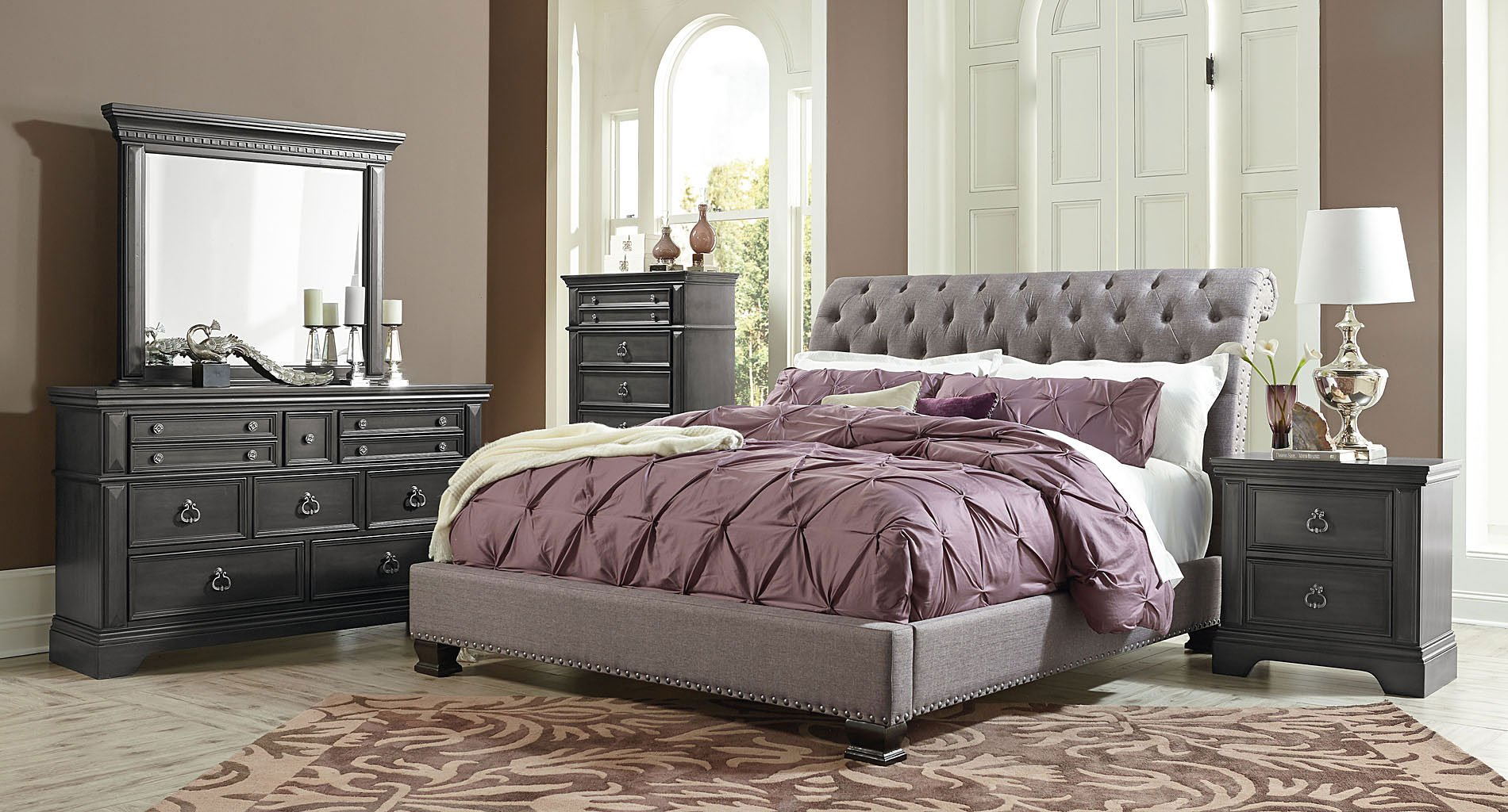 Awesome Upholstered Bedroom Set Decorating Ideas