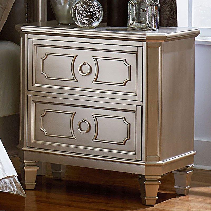 Windsor Nightstand Silver By Standard Furniture