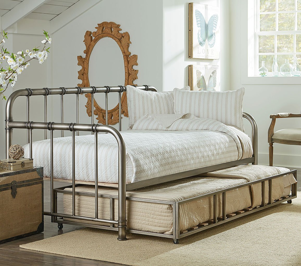 tristen metal daybed w trundle aged pewter kids beds 11858 | 87503 04 daybed 1