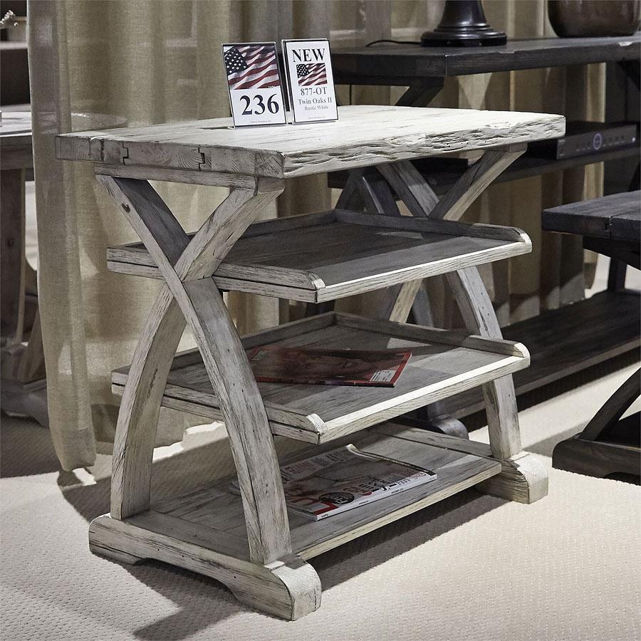 Twin Oaks Shelf End Table (Rustic White) By Liberty