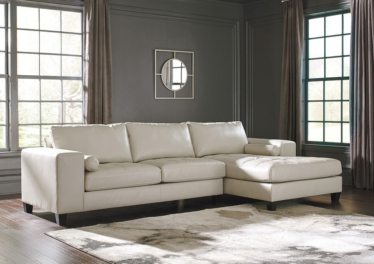 Nokomis arctic right chaise sectional by signature design by ashley furniturepick
