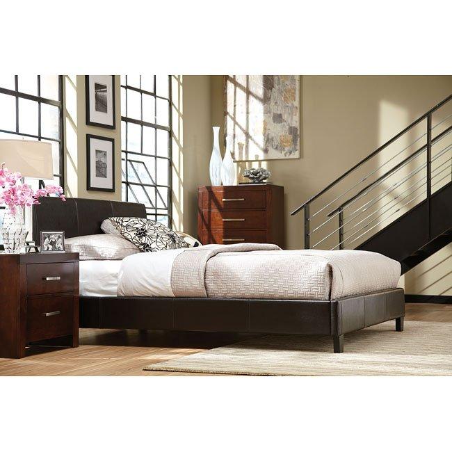 Metro Bedroom Set W Upholstered Bed By Standard Furniture