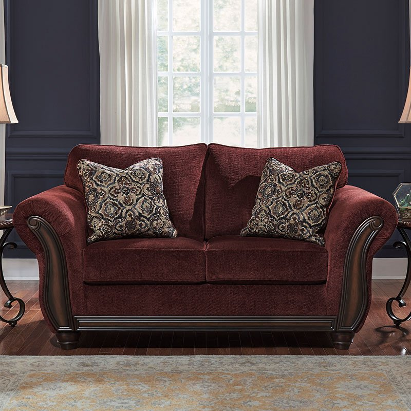 Burgundy Sofa And Loveseat Burgundy Fabric Clic Sofa