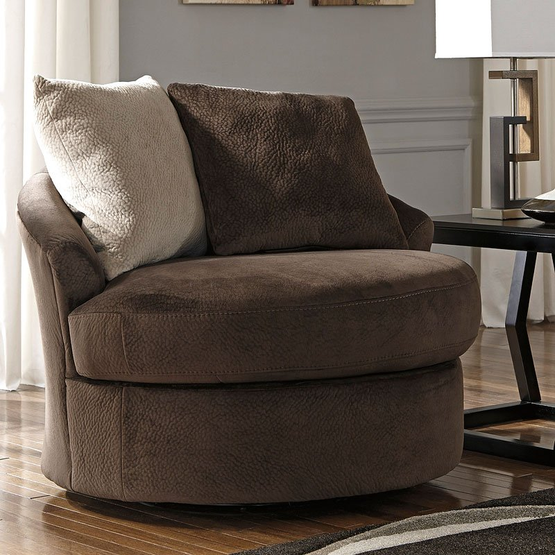 Dahlen Chocolate Swivel Accent Chair