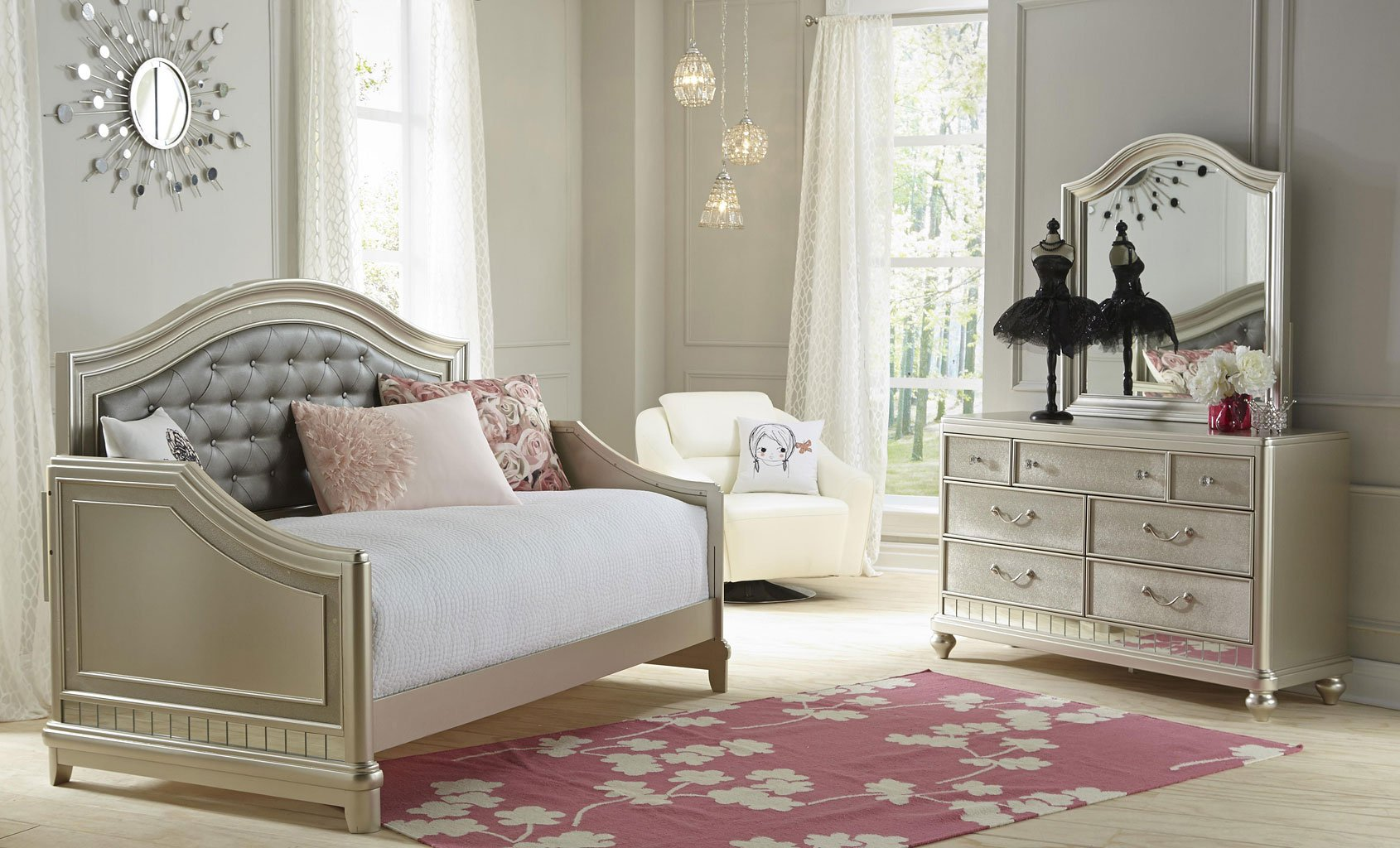 lil diva daybed bedroom set - kids room sets - kids and youth furniture - kids room