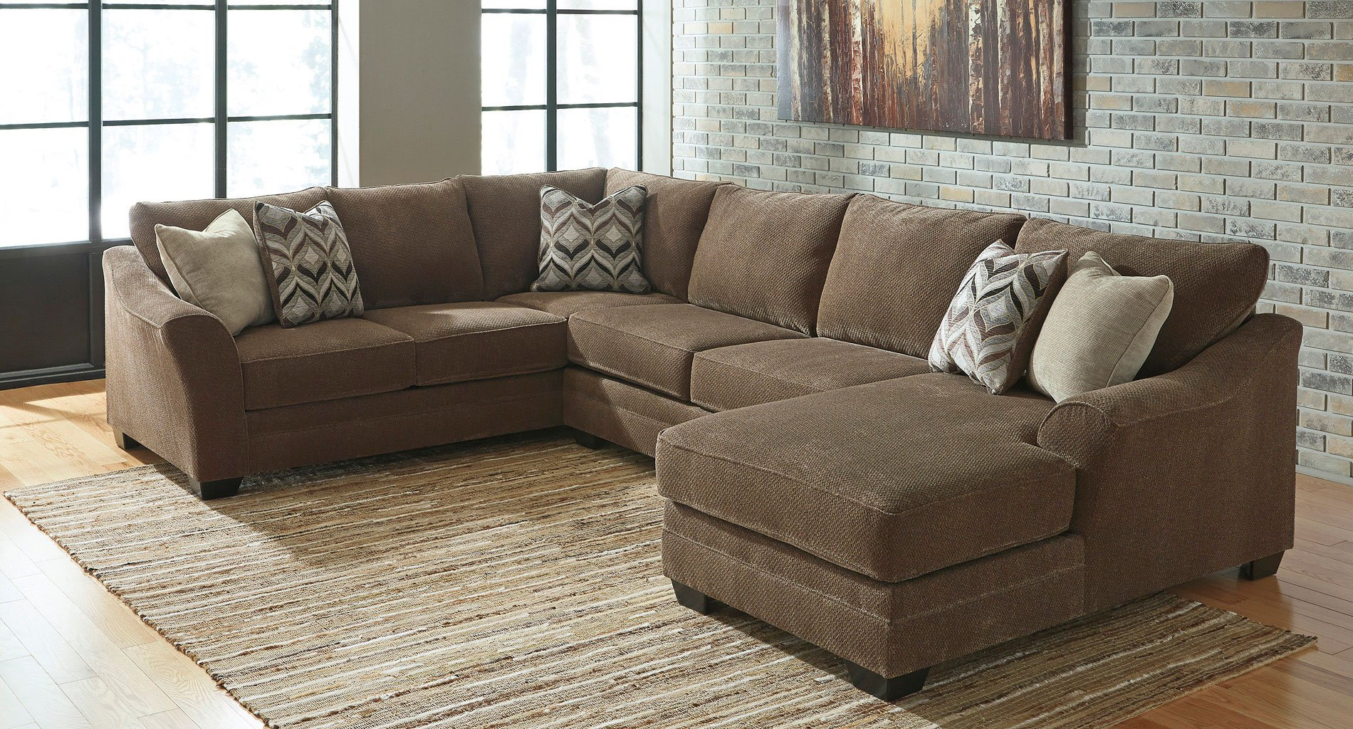 justyna teak right chaise sectional sectionals living room furniture living room. Black Bedroom Furniture Sets. Home Design Ideas