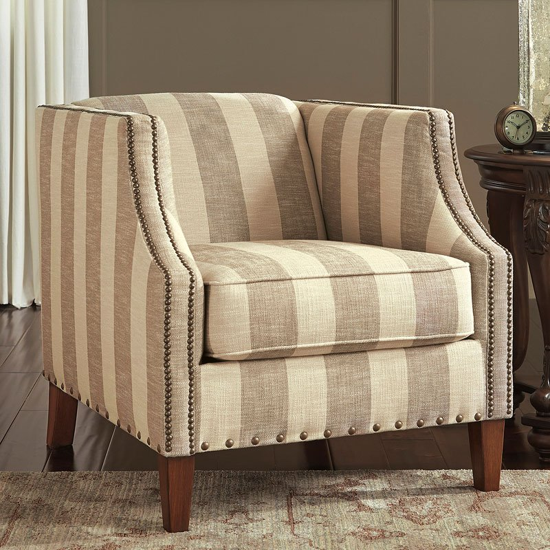 Berwyn View Quartz Striped Accent Chair Accent Chairs