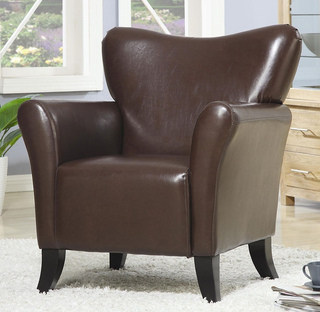 Contemporary Vinyl Chair Merlot By Coaster Furniture