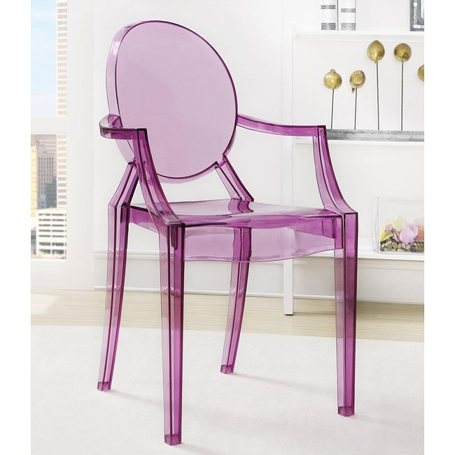 Charmant Purple Ghost Chair (Set Of 2)