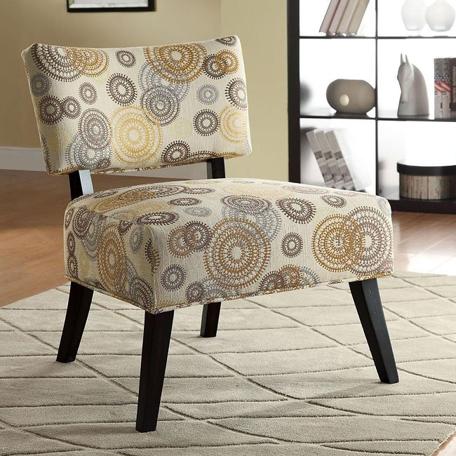 Attrayant Swirl Pattern Fabric Accent Chair
