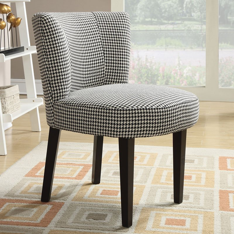 Houndstooth Accent Chair Accent Chairs Living Room
