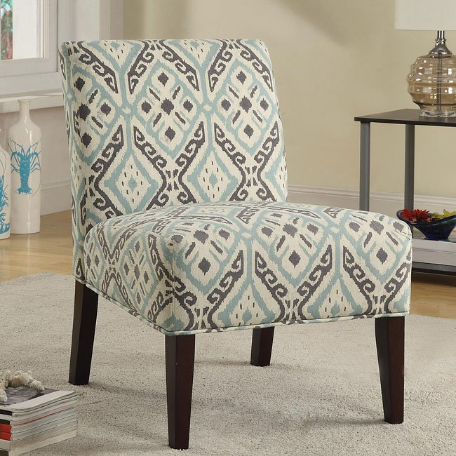 Brown and teal accent chair accent chairs living room for Teal accent chairs in living room