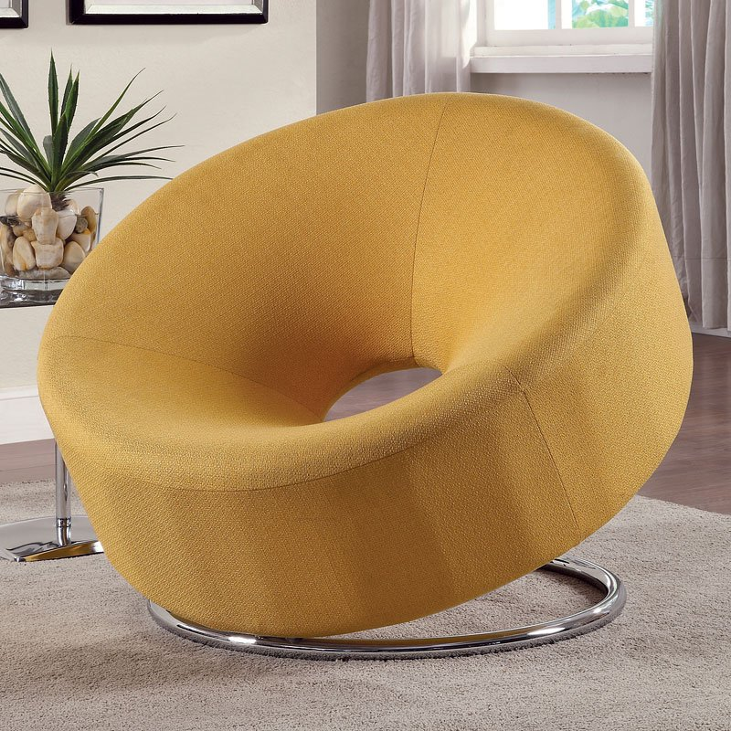 Coaster Bedroom Furniture >> Donut Shaped Accent Chair (Yellow) - Accent Chairs - Living Room Furniture - Living Room