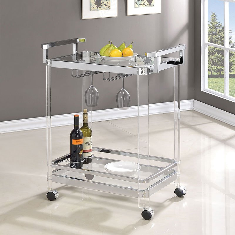 Beautiful Acrylic Serving Cart