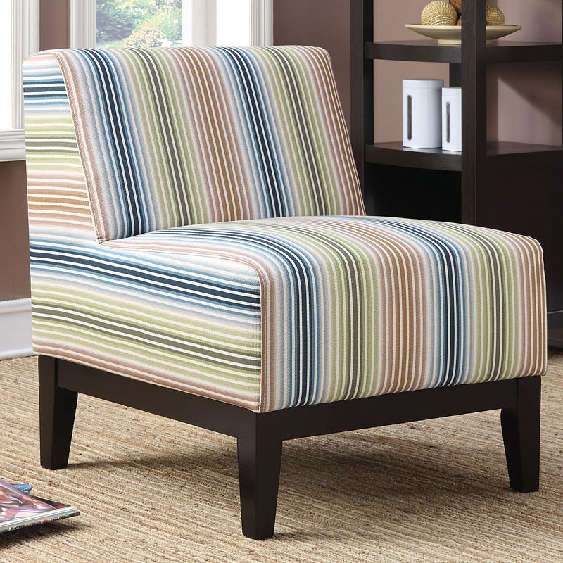 Striped Pattern Accent Chair Multi Color Accent Chairs