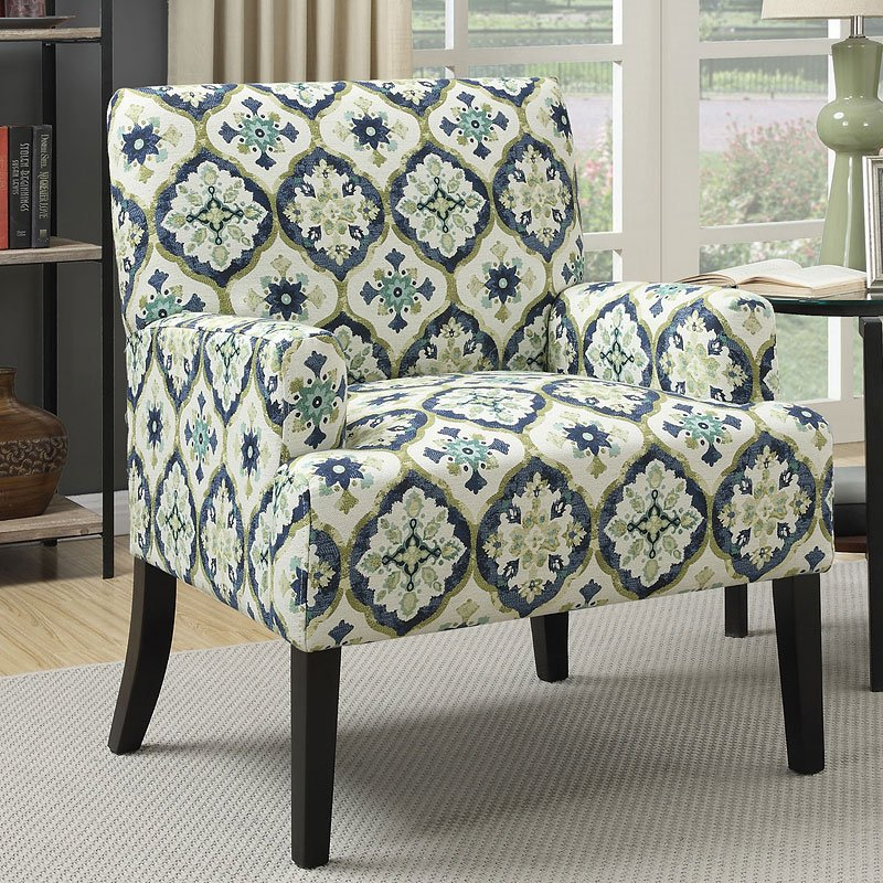 Geometric Patterned Accent Chair Dark Blue By Coaster Furniture